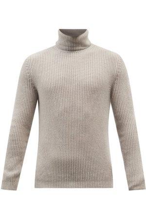 Iris von Arnim Men Turtlenecks - Lio Roll-neck Ribbed-cashmere Sweater - Mens
