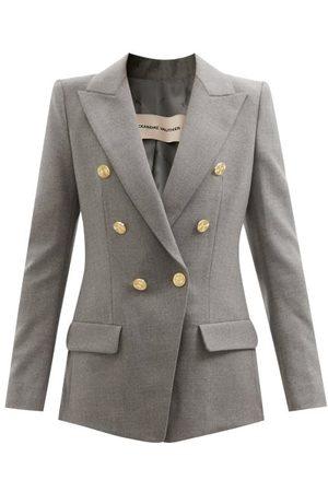 ALEXANDRE VAUTHIER Women Blazers - Double-breasted Wool-blend Twill Blazer - Womens - Grey