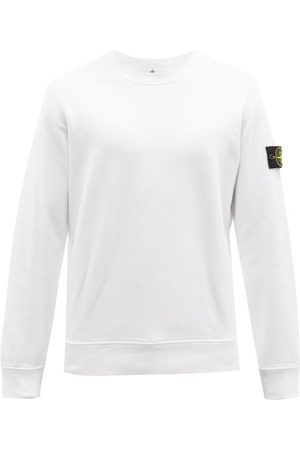 Stone Island Men Sports Hoodies - Logo-patch Cotton-jersey Sweatshirt - Mens