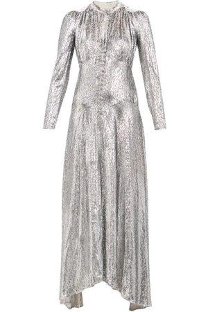 Paco rabanne Metallic Fil Coupé-velvet Maxi Dress - Womens