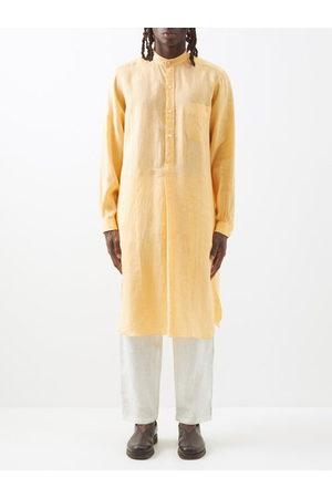 Charvet Men Sweats - Stand-collar Linen Tunic - Mens
