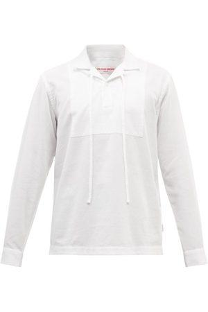 Orlebar Brown Men Shirts - Uriel Cuban-collar Cotton-poplin Shirt - Mens