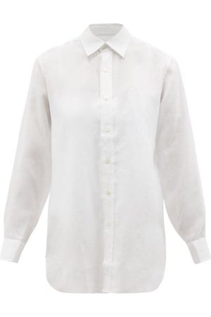 Charvet Women Sweats - Point-collar Linen Nightshirt - Womens