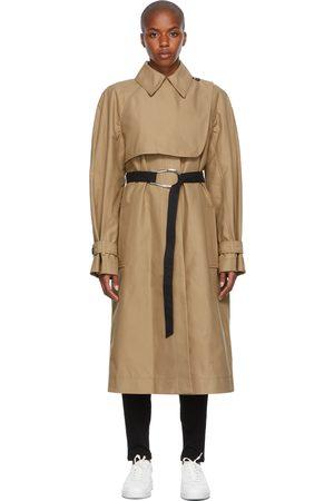 Victoria Victoria Beckham Women Trench Coats - Beige Oversized Trench Coat