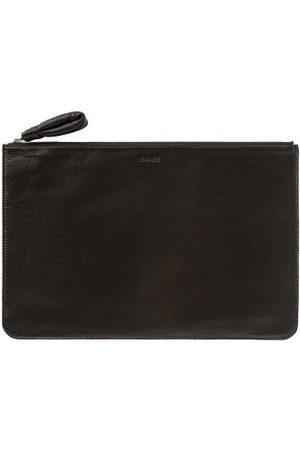 LEMAIRE Men Luggage - Logo-print Leather Pouch - Mens