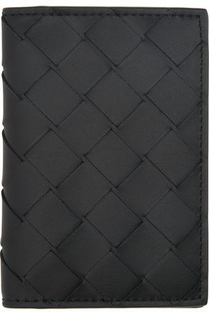 Bottega Veneta Men Wallets - Black Intrecciato Bifold Card Holder