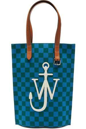 J.W.Anderson Women Tote Bags - Belt Logo-embroidered Checked Canvas Tote Bag - Womens - Multi