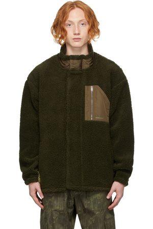 AMBUSH Men Fleece Jackets - Green Wool Fleece Jacket