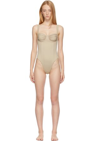 Belle The Label Women Swimsuits - Beige 'The Vision' One-Piece Swimsuit