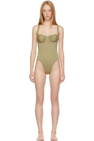 Belle The Label Women Swimsuits - Khaki 'The Vision' One-Piece Swimsuit