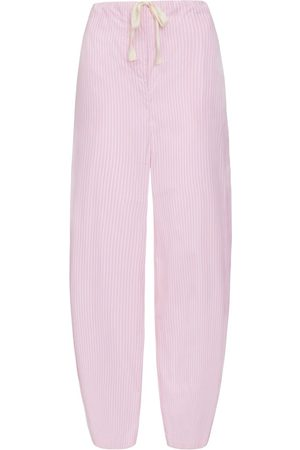 SERENA BUTE Women Pants - The Everyday Summer Trouser - Pink & White Stripe Cotton