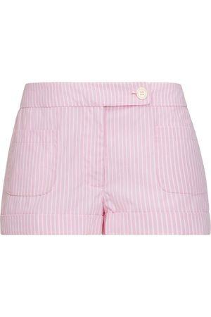 SERENA BUTE The Tailored Shorts - Pink & White Stripe Cotton