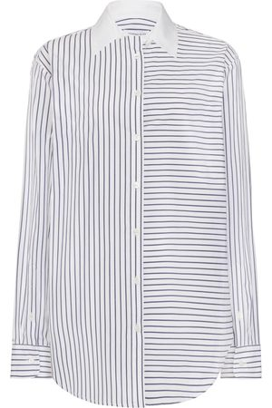 SERENA BUTE The Relaxed Cotton Shirt - Navy Stripe Cotton