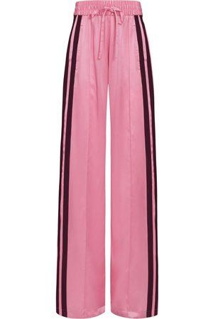 SERENA BUTE Women Tracksuits - The Classic Wide Leg Jogger - Hello Pink & Plum Silk