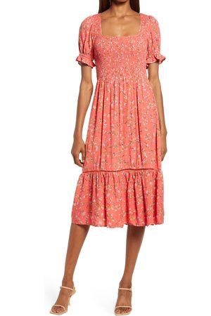 Lost + Wander Women's Sweet Daze Floral Puff Sleeve Dress