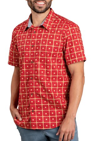 TOAD AND CO Men's Toad & co Fletch Short Sleeve Organic Cotton Button-Up Shirt