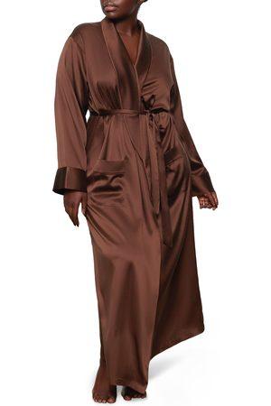 SKIMS Women's Long Stretch Silk Robe