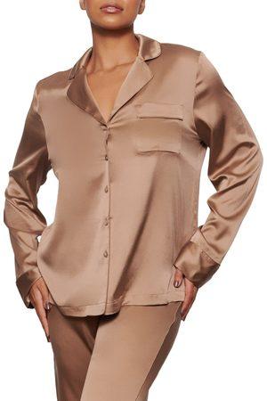 SKIMS Women's Stretch Silk Pajama Top