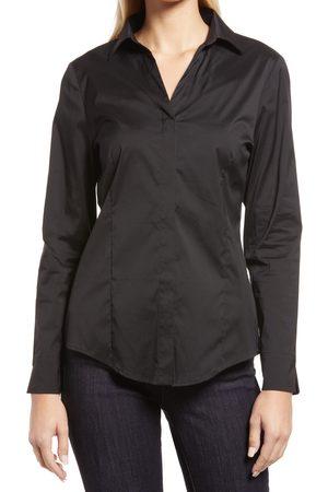 Ming Wang Women's Hidden Placket Shirt