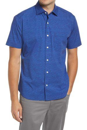Peter Millar Men's Shipstern Abstract Print Short Sleeve Button-Up Shirt