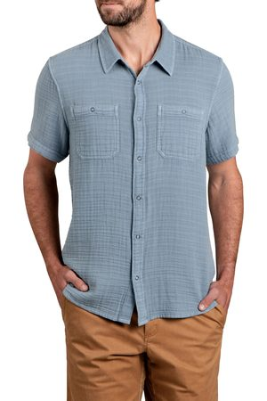 TOAD AND CO Men's Toad & co Tamarac Short Sleeve Organic Cotton Snap-Up Shirt
