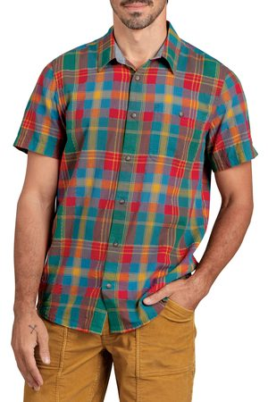 TOAD AND CO Men's Toad & co Cuba Libre Plaid Short Sleeve Organic Cotton Button-Up Shirt