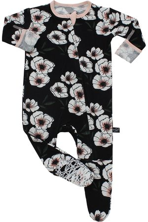 Peregrine Infant Girl's Floral Fitted One-Piece Footed Pajamas