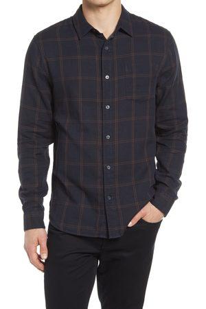 Vince Men's Windowpane Double Face Button-Down Shirt