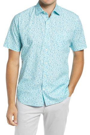 Peter Millar Men's Sailors Print Short Sleeve Button-Up Shirt