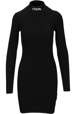Heron Preston Turtleneck logo mini dress