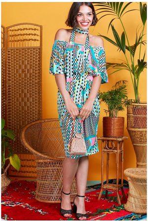 Onjenu Women Printed Dresses - Misty dress in prism print 8