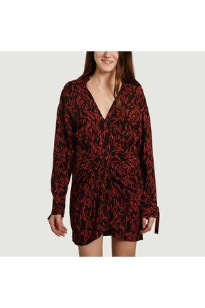 IRO Yhaz fancy print long sleeves dress red Paris