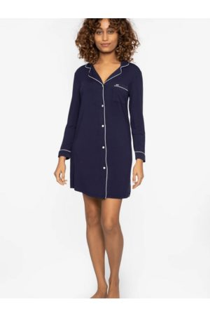 Pretty You London Bamboo Collection Navy Nightshirt