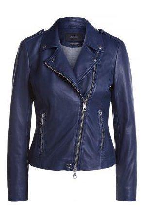 SET Set Tyler Leather Jacket 67950 in colour maritime