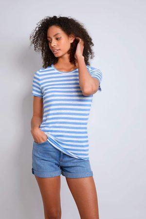 Lavender Hill Clothing Short Sleeve Striped Linen T-shirt