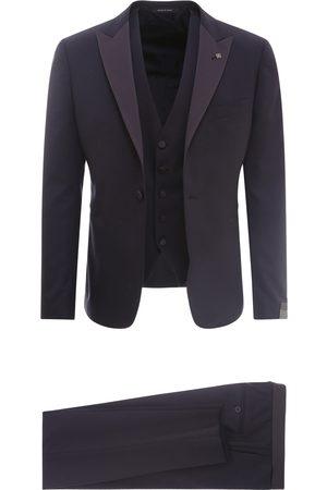 TAGLIATORE Virgin wool suit with vest