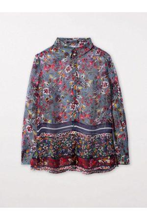 Luisa Cerano Silk Floral Print Blouse