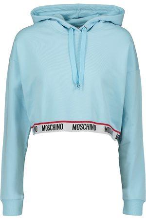 Moschino Womens Lounge Cropped Hoody