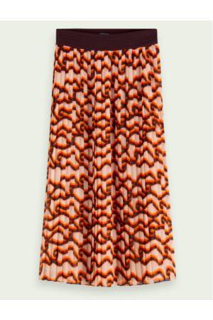 Scotch&Soda Women Printed Skirts - Printed Pleated Midi Skirt