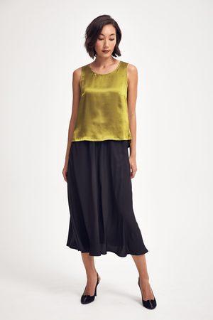 Lindsay Nicholas New York Midi Skirt in Recycled Poly