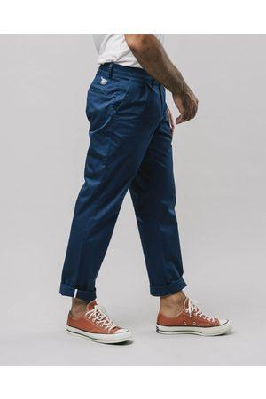 Brava Fabrics Men Chinos - Pleated Chino Pants Navy