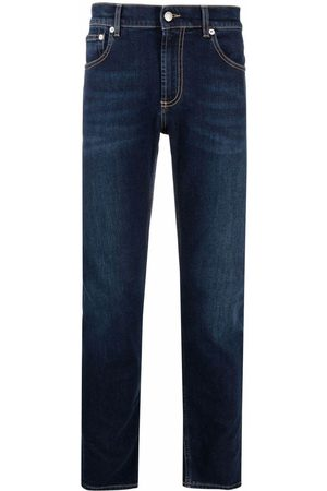 Alexander McQueen Logo Embroidered Skinny Jeans