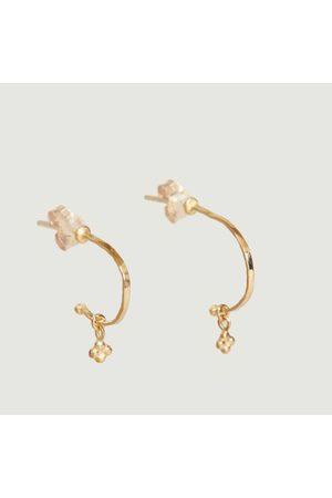 Monsieur Women Earrings - Creoles Anatole clover
