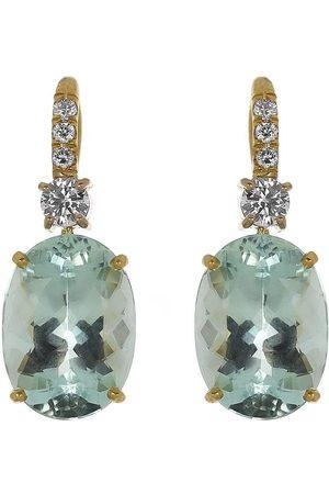 IRENE NEUWIRTH JEWELRY Gemmy Gem Aquamarine and Diamond Earrings
