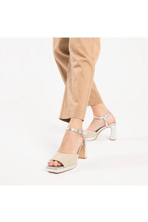 Odyl Vanessa Wu silver and platform sandals 36/ UK3