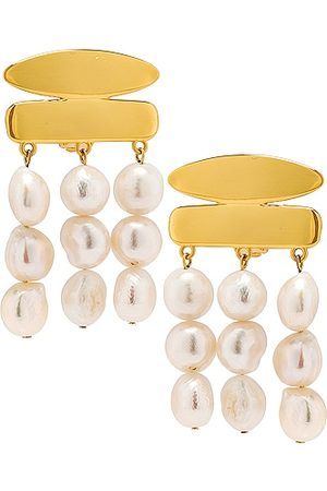 Cult Gaia Tala Earrings in Metallic Gold
