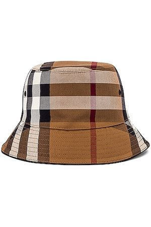 Burberry Canvas Check Bucket Hat in