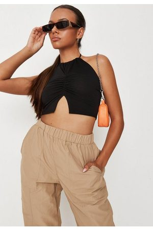 Missguided Halterneck Ruched Front Cami Top