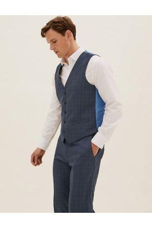 Marks & Spencer Check Waistcoat
