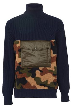 Moncler Men Sweatshirts - Camo motif top
